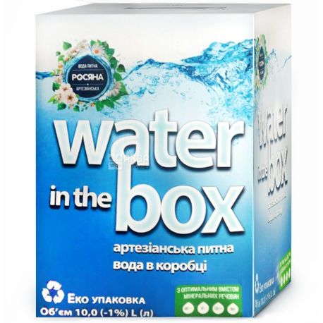 Росяна, Вода негазированная, 10 л, Bag-in-Box