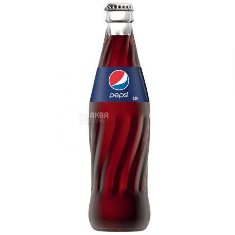 Pepsi-Cola, Упаковка 24 шт. по 0,33 л, Пепсі-Кола, Класична, Вода солодка, скло