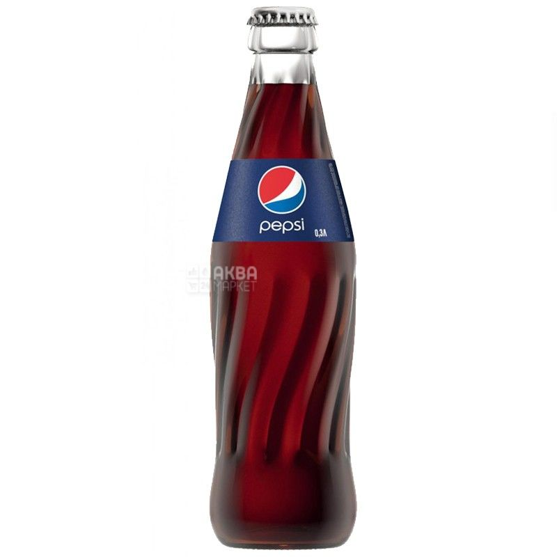 Pepsi-Cola, Упаковка 24 шт. по 0,33 л, Пепси-Кола, Классическая, Вода сладкая, стекло