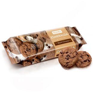 Roshen, 150 г, печиво, шоколадне, зі шматочками шоколадної глазурі, Esmeralda
