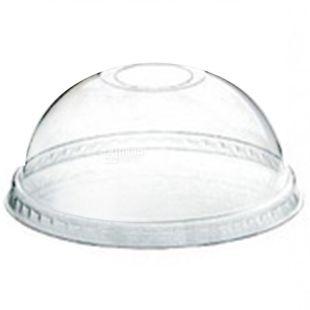 Десертний стакан, 50 шт., 250 мл, З купольною кришкою, Прозорий