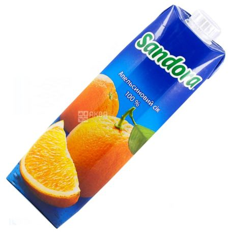 Sandora, Апельсиновый, 0,95 л, Сандора, Сок натуральный