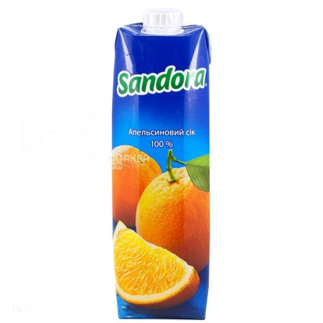 Sandora, 0,95 л, сок, Апельсиновый, м/у