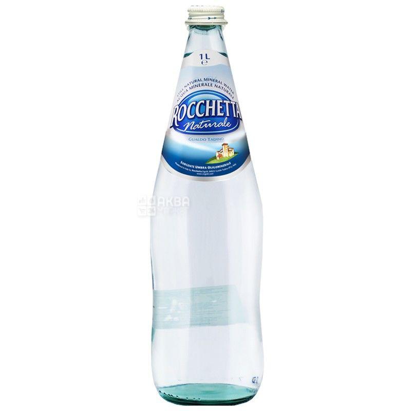 Rocchetta Naturale, 1 л, Рочетта Натурале, Вода минеральная негазированная, стекло