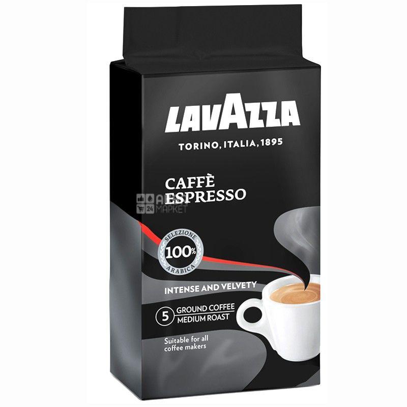 Lavazza, Espresso Arabica, 250 г, Кофе Лавацца, Эспрессо Арабика, средней обжарки, молотый
