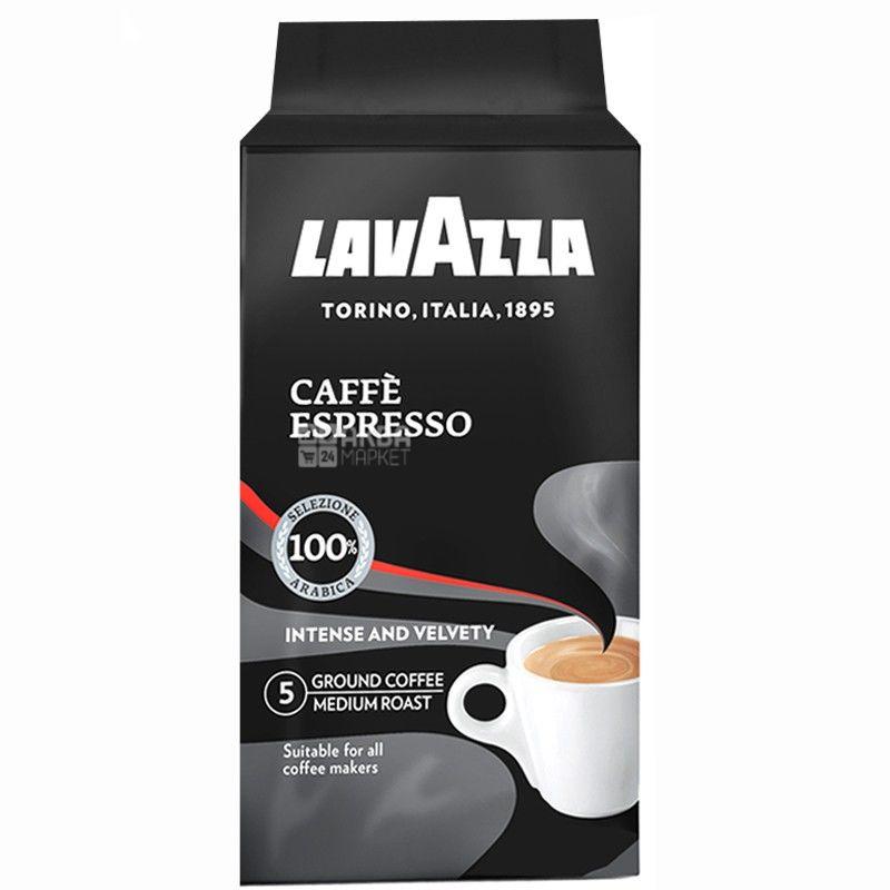 Lavazza, Espresso Arabica, 250 г, Кава Лаваца, Еспрессо Арабіка, середнього обсмаження, мелений