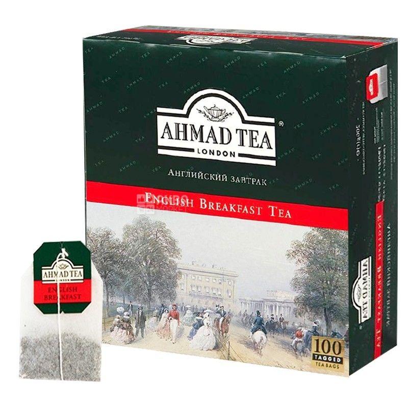 Ahmad, упаковка 6 шт. по 100 шт., чай черный, English Breakfast Tea
