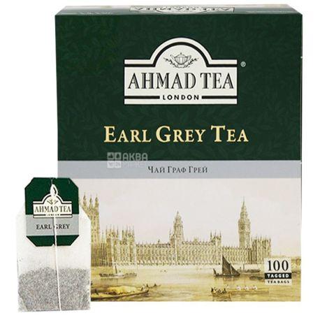Ahmad Tea Earl Grey, 6 упаковок по 100 пак, Чай черный Ахмад Ти Эрл Грей