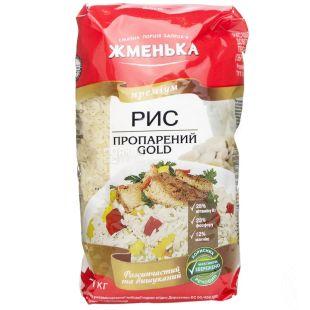 Жменька, 1 кг, рис пропаренный, Премиум, Gold