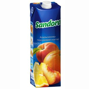 Sandora, Апельсин-персик, 0,95 л, Сандора, Нектар натуральный