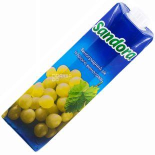Sandora, 0,95 л, сік, Із білого винограду