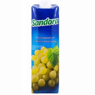 Sandora, Білий виноград, 0,95 л, Сандора, Сік натуральний