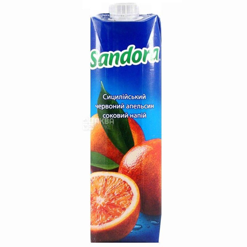 Sandora, Сицилийский красный апельсин, 0,95 л, Сандора, Cоковый напиток