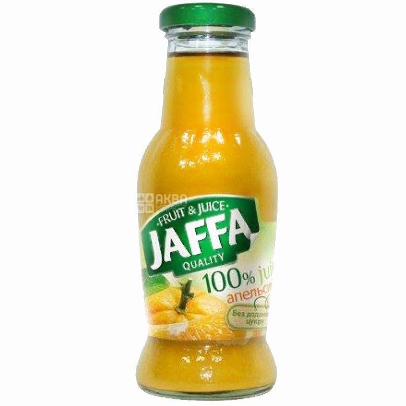 Jaffa, Orange, 0,25 л, Джаффа, Сок  Апельсин, без добавления сахара, стекло