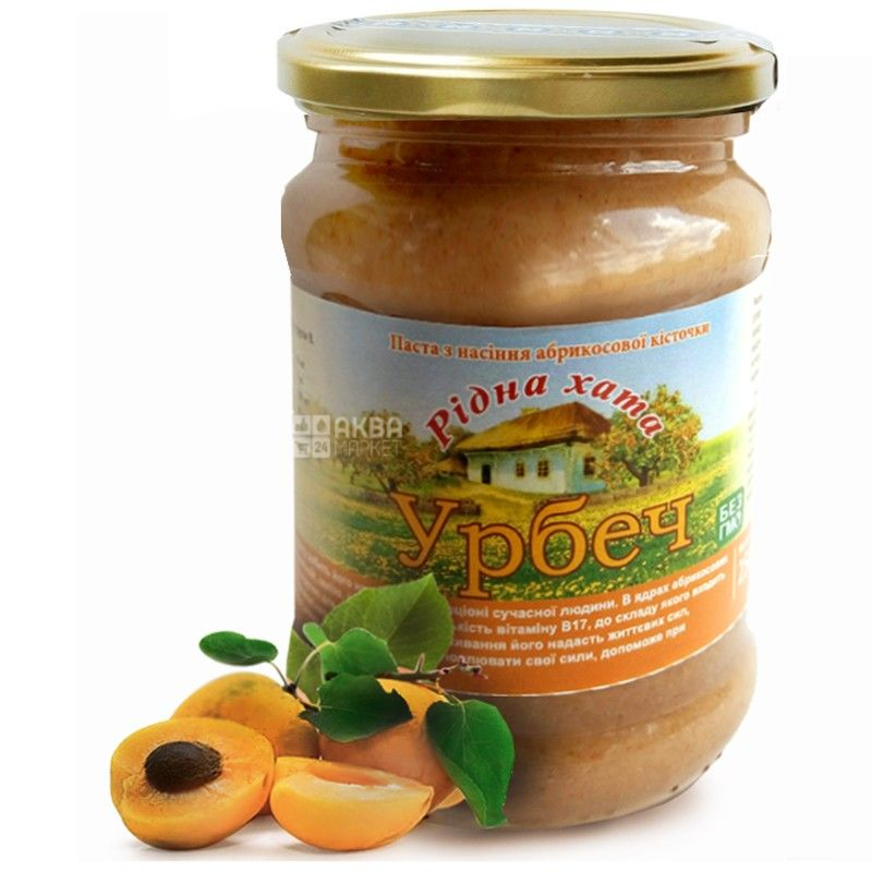 Rіdna Khata, 250 g, Urbech, From apricot seed, glass