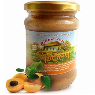Рідна Хата, 250 г, урбеч, Из семян абрикосовой косточки, стекло