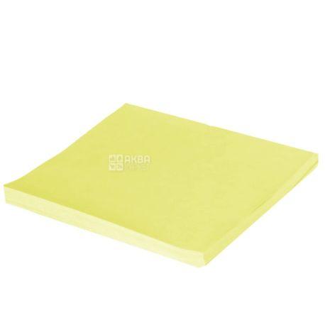 Hopax, 100 шт., 76х76 мм, бумага, С липким слоем, Желтая