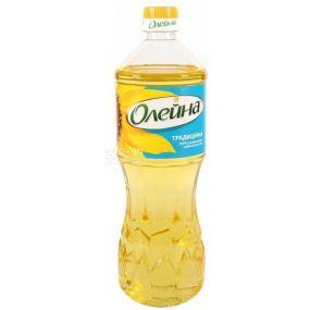 Олейна Традиційна, 0,85 л, олія соняшникова, Рафінована, ПЕТ