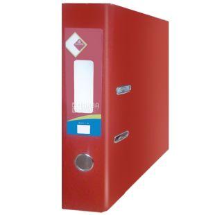 Klerk, 7,5 см, А4, папка-регистратор, Красная