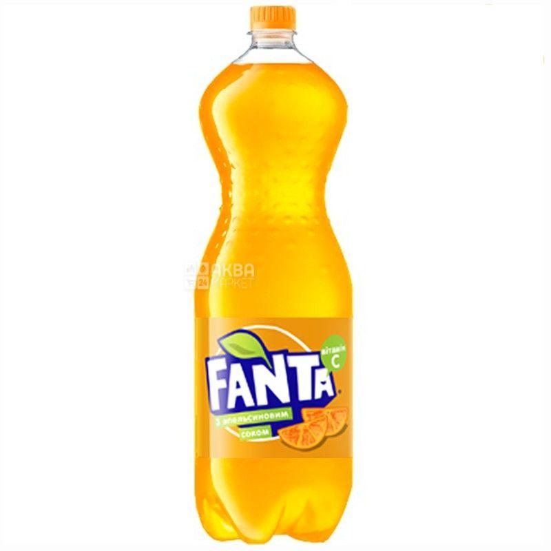 Fanta, 2 l, sweet water, Orange, PET
