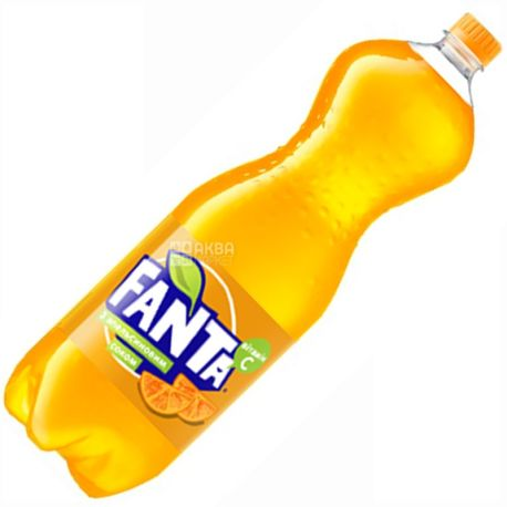 Fanta, Апельсин, 2 л, Фанта, Вода сладкая, с натуральным соком, ПЭТ