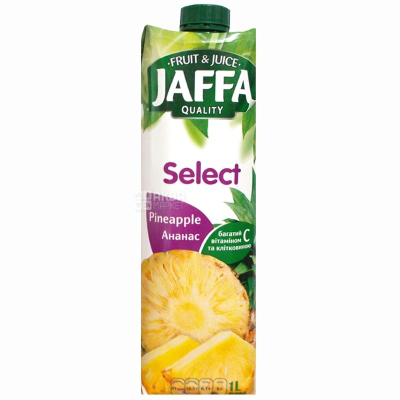 Jaffa, Select, Ананасовий, 1 л, Джаффа, Нектар натуральний