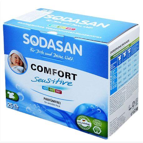 Sodasan, 1,2 кг, стиральный порошок-концентрат, С кондиционером