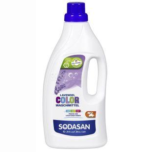 Sodasan, 1,5 л, жидкий порошок, Для цветных тканей, Лаванда, ПЭТ