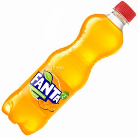 Fanta, Апельсин, 0,5 л, Фанта, Вода сладкая, с натуральным соком, ПЭТ