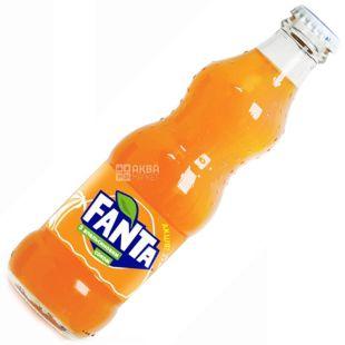 Fanta, Апельсин, 0,25 л, Фанта, Вода солодка, з натуральним соком, скло