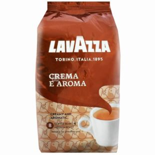 Lavazza, 1 кг, зернова кава, Crema e Aroma, м/у
