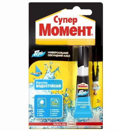Super Moment, 3 g, glue-gel, Universal