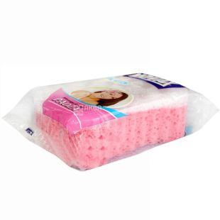 Novax Plus, Paola, 1 шт., Губка массажная, розовая