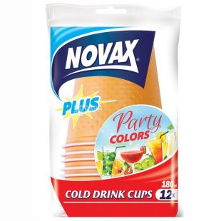 Novax Plus Glasses plastic 180 ml, 12 pcs.