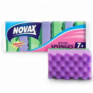 Novax, 7 шт., губка кухонная, Home Star