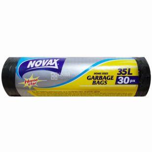 Novax Plus, 30 шт., 35 л, пакеты для мусора