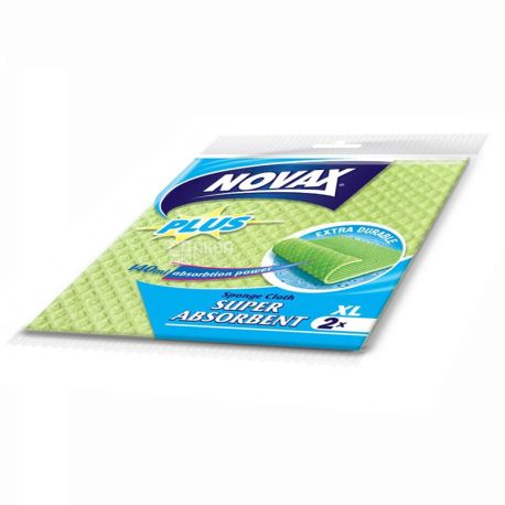 Novax Plus, 2 шт., салфетки влаговпитывающие