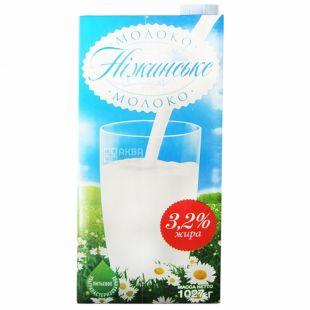 Нежинское, упаковка 12 шт. по 1 л, 3,2%, молоко, Ультрапастеризованное
