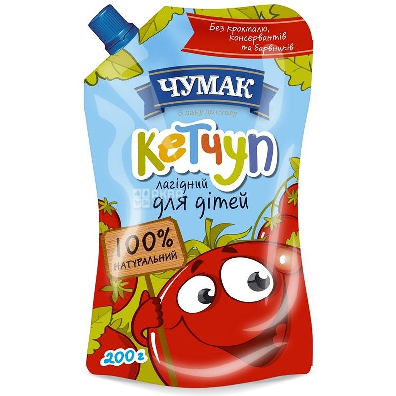 Chumak, 200 g, ketchup, Gentle for children, doy-pack