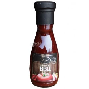 Runa, 235 g, sauce, Original BBQ, glass
