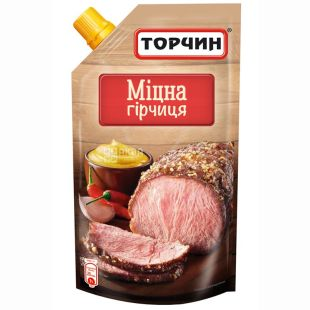 Torchin, 130 g, mustard, Strong, doy-pack