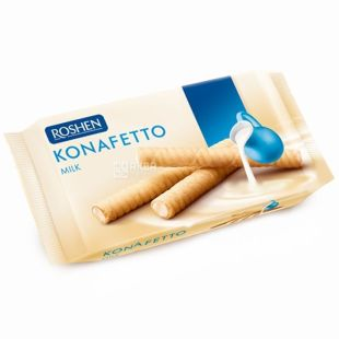 Roshen, 156 g, wafer rolls, Konafetto Milk