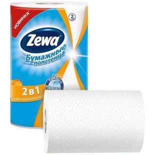 Zewa, 1 рул., Паперові рушники Зева, 2-шарові, 112 відривів, 28 м