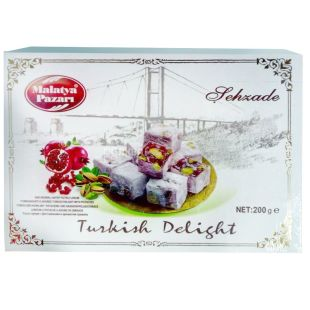 Sehzade, 200 g, Turkish Delight, Garnet with pistachios