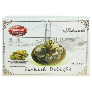 Sehzade, 200 g, Turkish Delight, With Pistachios