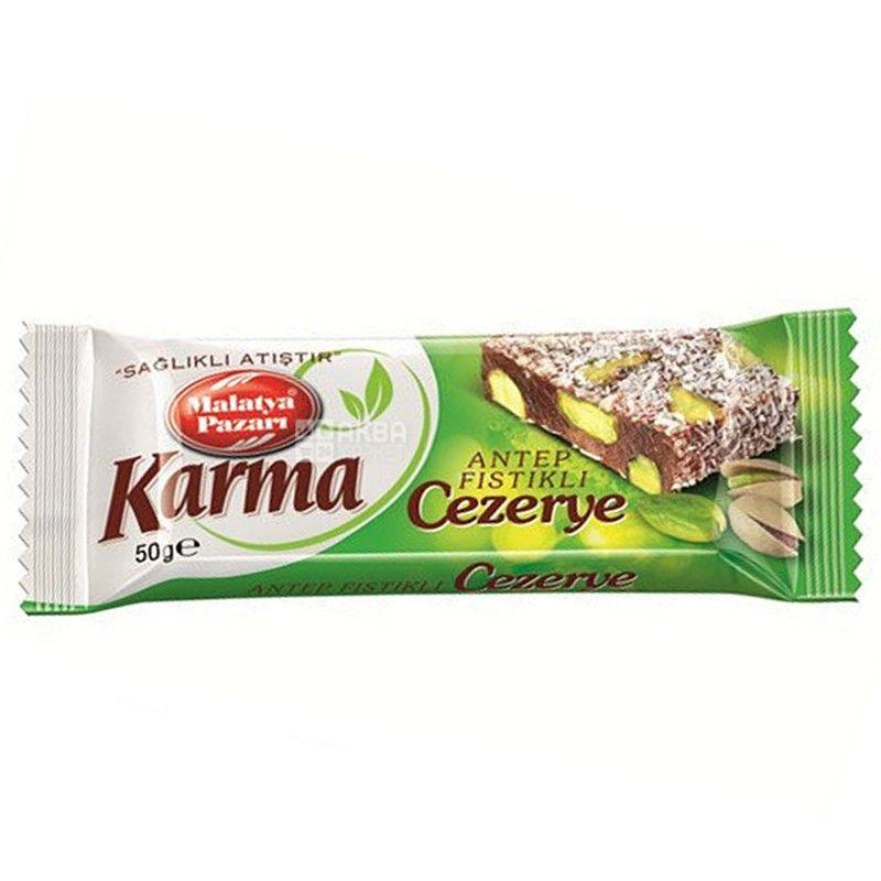 Karma Cezerye, 50 г, батончик, С фисташками