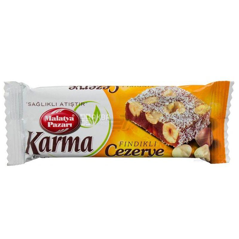 Karma Cezerye, 50 г, батончик, С лесным орехом