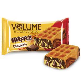 Volume, 50 г, кекс з шоколадним соусом, Waffle, Mozaik