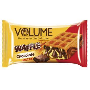 Volume, 50 г, кекс с шоколадным соусом, Waffle, Mozaik