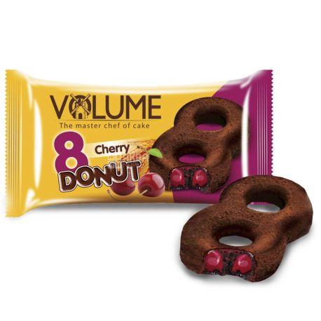 Volume, 50 г, кекс какао с вишневой начинкой, Donut